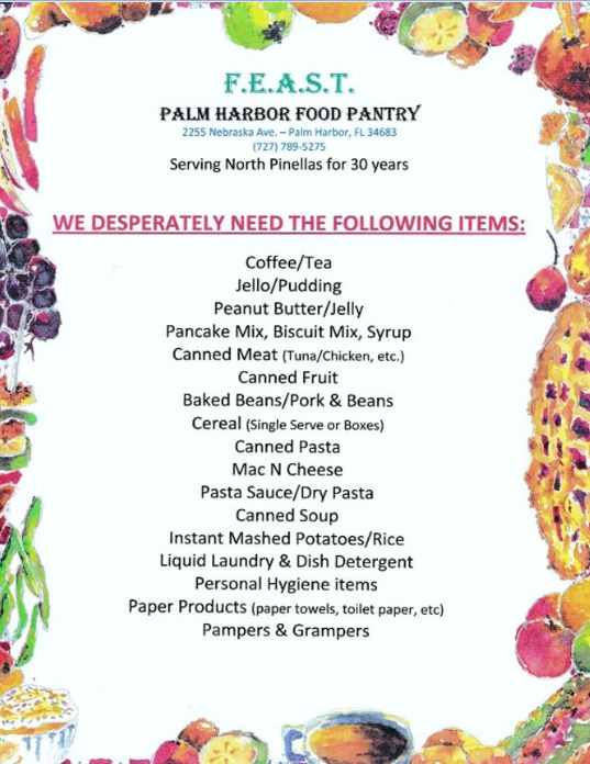 FEAST Food Pantry Donations